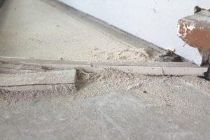 dusty work area