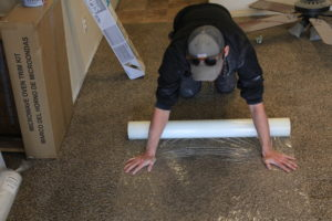 masking plastic carpet protection