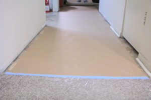 floor protection for carpet