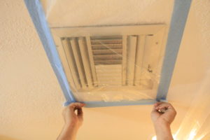 covering vents in plastic