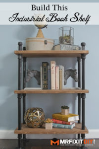 industrial black pipe book shelf tutorial