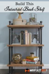 industrial black pipe book shelf tutorial