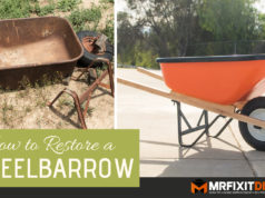 how to restore a wheelbarrow