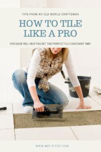 installing tile diy tile like a pro