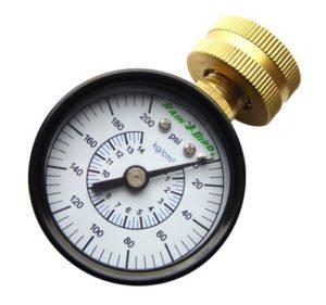 water pressure testing gauge