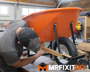 wheelbarrow restoration assembly