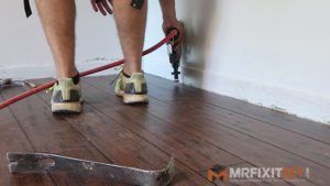 face nailing hardwood flooring