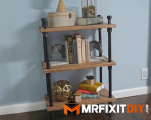 industrial black pipe bookshelf tutorial