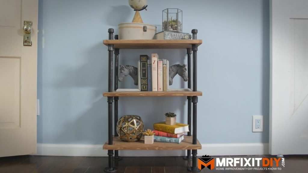 Diy Industrial Pipe Bookshelf Diy Project Tutorial Mr