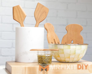 wooden kitchen utensils