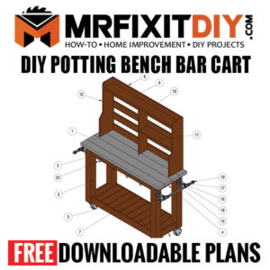 Potting Bench Bar Plans