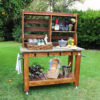 potting bench bar cart