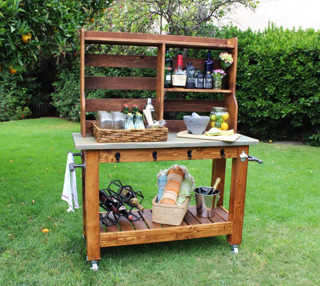 Potting Bench Bar Cart