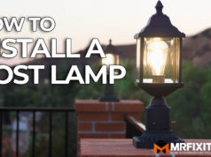 how to install a post lamp