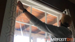 sealing window drafts home prepped for winter
