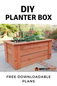 DIY Planter box downloadable plans