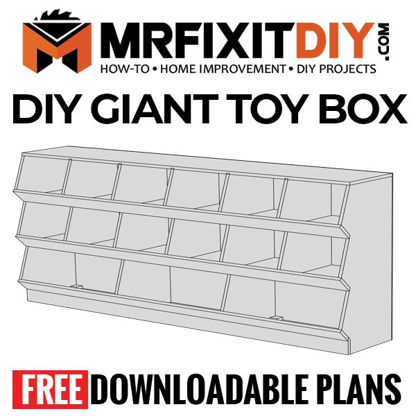 Diy Giant Toy Box Storage Cabinet Build Plans Mr Fix It Diy