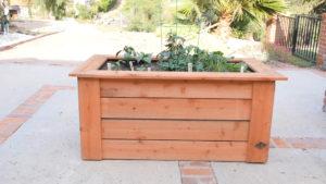 Diy Raised Planter Box W Hidden Wheels Mr Fix It Diy