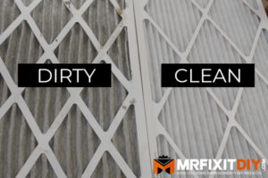 clean versus dirty HVAC air filter home prepped for winter