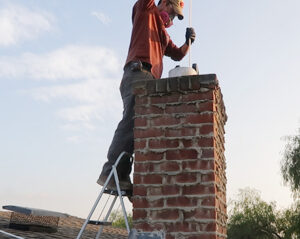 DIY chimney cleaning