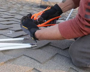 DIY Chimney cleaning assembling chimney cleaning brush