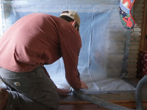 using a shop vac chimney cleaning