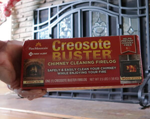 creosote buster firelog diy chimney cleaning