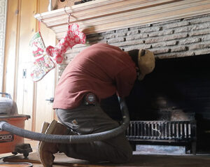diy cleaning the chimney firebox