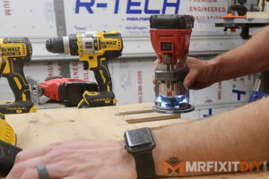 milwaukee 18v fuel palm router round over plywood