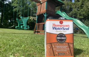 restoring a playset with thompsons water seal